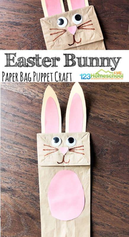 Paper Bag Easter Bunny Craft