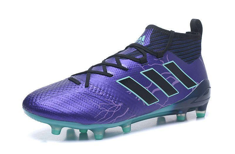 buy online b9d34 3f3d7 2018 World Cup Men Adidas ACE 17+ Purecontrol FG Purple Black Blue