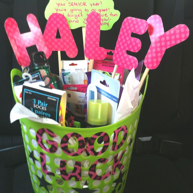 Good Luck Basket All From The Dollar Store Cheer Sister
