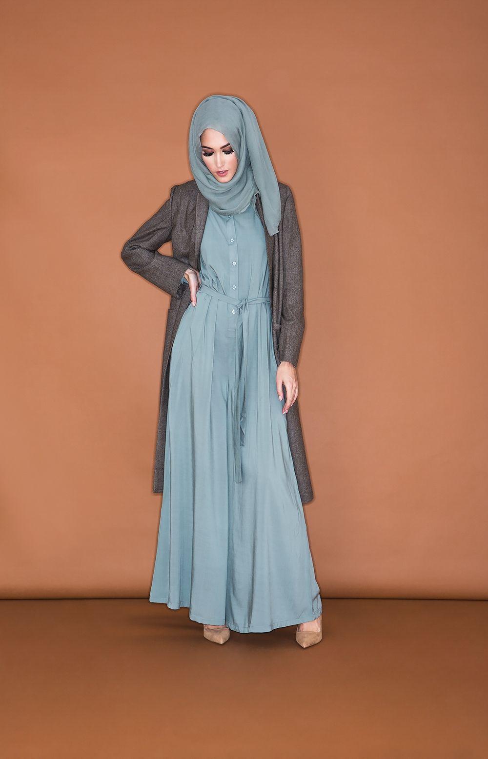 Jumpsuit - Sage | Aab | Hijab fashion, Islamic fashion ...