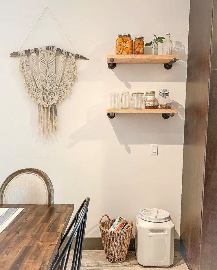 A Boho Chic Kitchen Dinette Featuring The Cannon Valley Table And