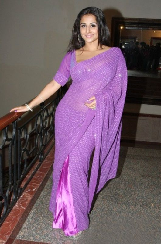 Superb Violet Color Chiffon #Bollywood #Saree | Latest