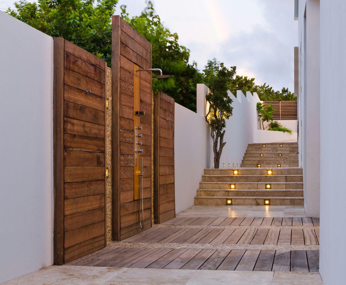 outdoor shower villa kishti cecconi simone patio courtyard
