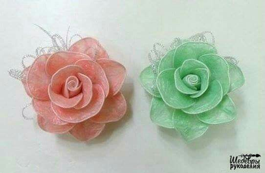 Roses made from garbage bags
