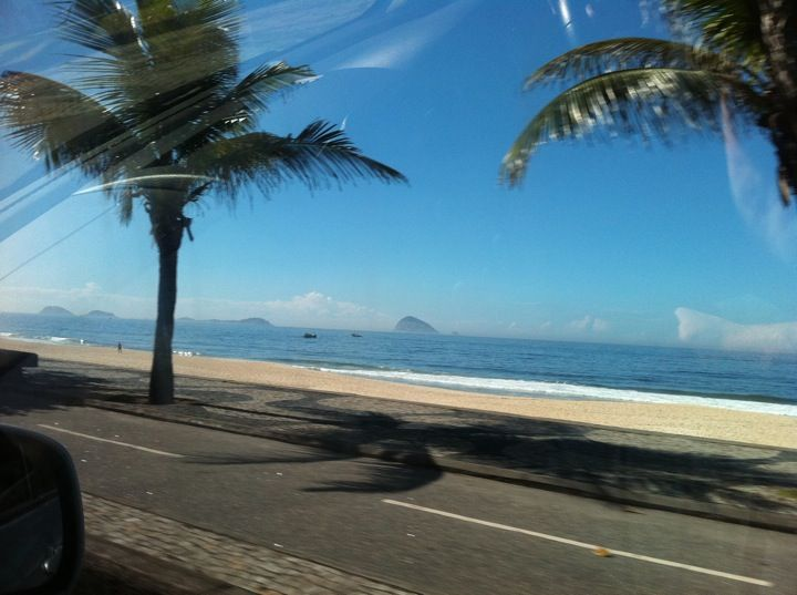 Praia de São Conrado em Rio de Janeiro, RJ