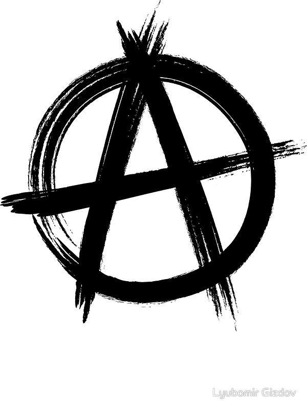 Circle A Anarchy Symbol Versin Ligera De Camiseta Pegatina By