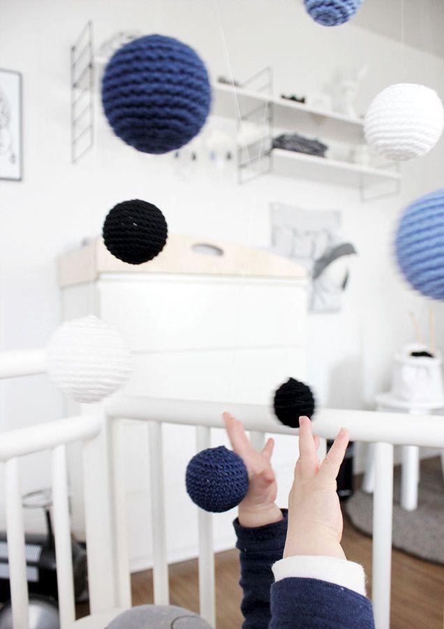 Häkel Kugel Mobile Nursery Baby Knitting Und Crochet