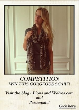 Competition - snake print scarf
