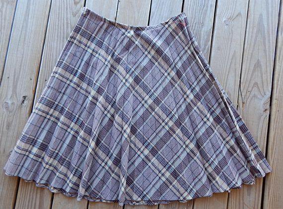 00ad38b1fd3a Full Wool Skirt Plus Size Skirt Pleated Skirt Swing Skirt Hillbilly Skirt  Knee Length Skirt Costume Skirt School Girl Skirt OOAK Unique