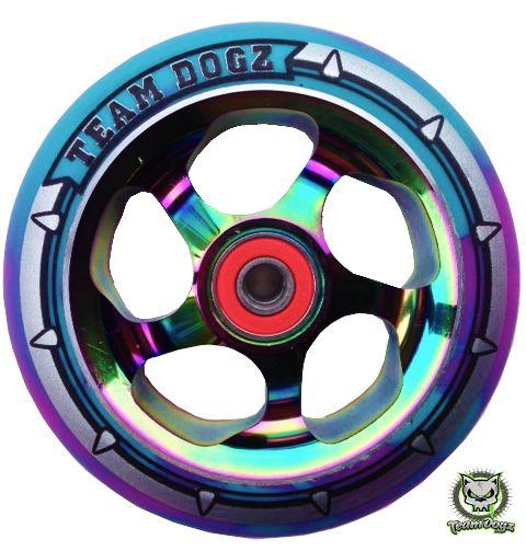 Team Dogz Pro Scooter Team Dogz Rainbow Neo Chrome