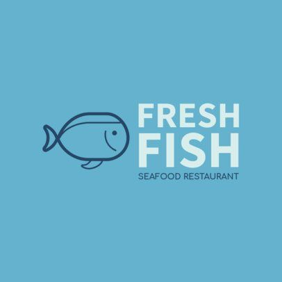 Simple Logo Generator for a Seafood Restaurant 1801h 221-el