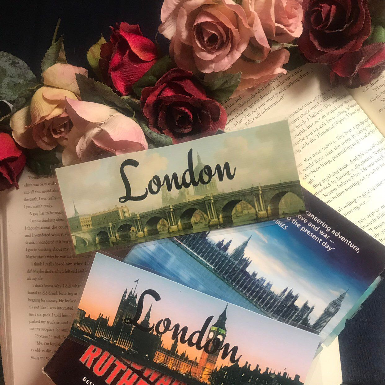 London Bookmarks Set Of Two Bookmarks Tourist Attractions