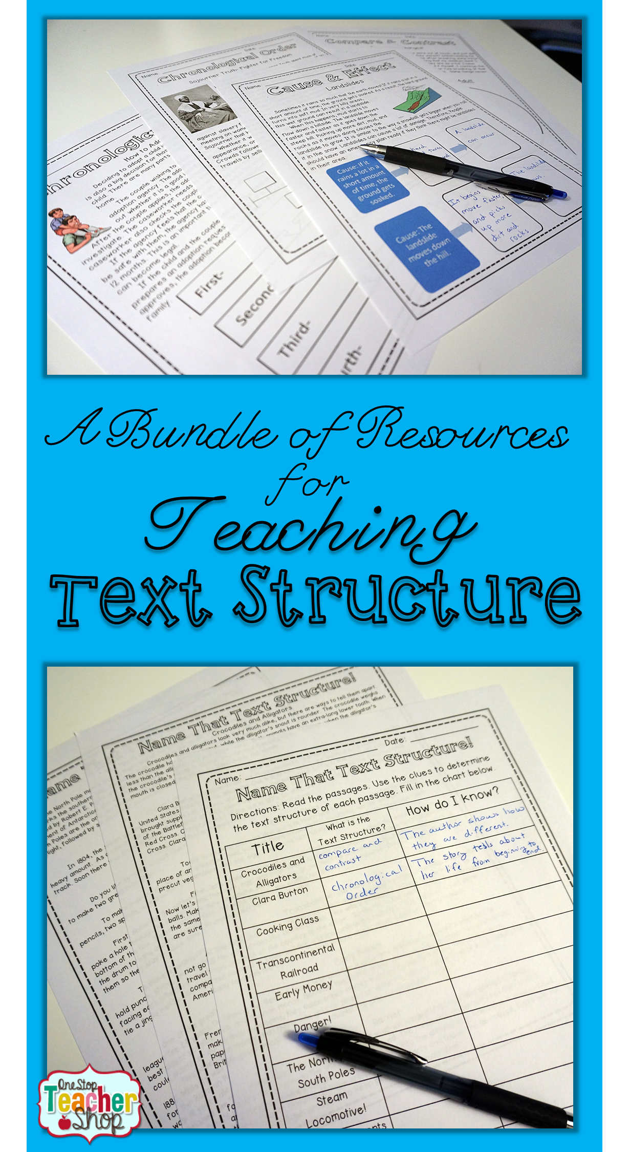 Nonfiction Text Structures No Prep Bundle
