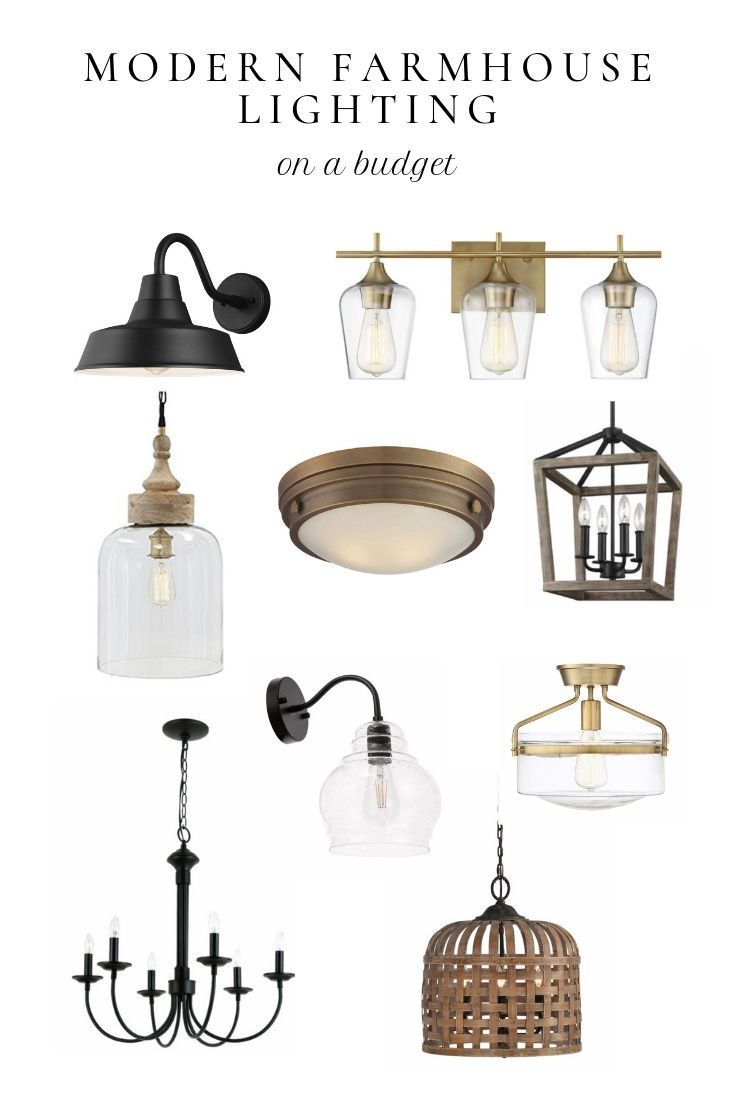 Modern farmhouse lighting on a budget -