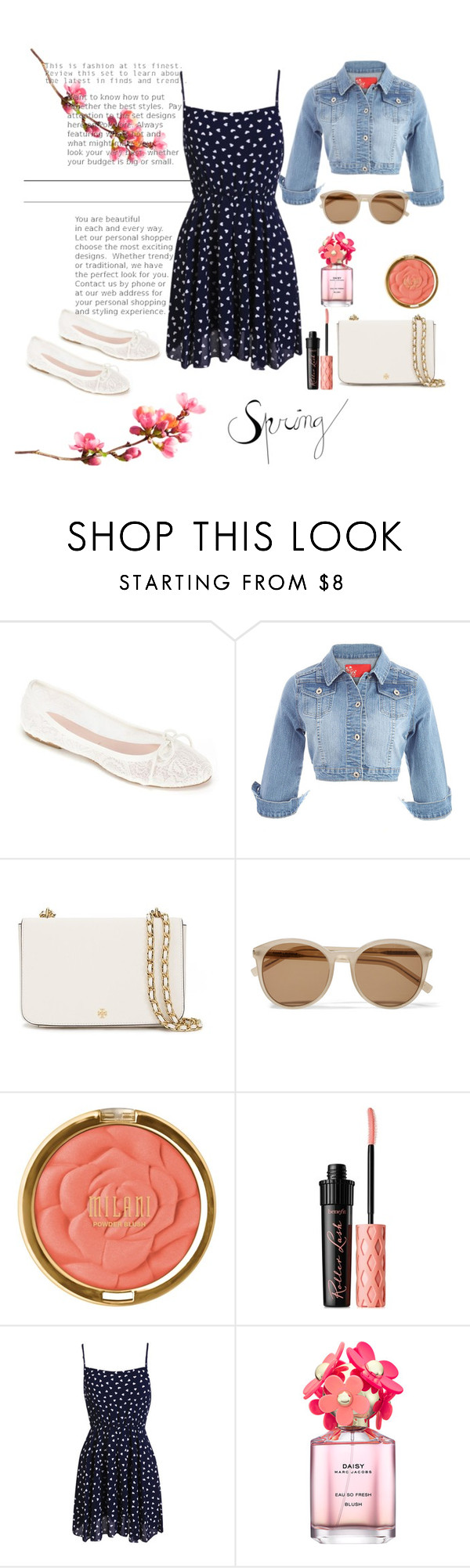 """""""flowers"""" by monni-go-al ❤ liked on Polyvore featuring Summit by White Mountain, Tory Burch, Yves Saint Laurent, Milani, Benefit and Marc Jacobs"""