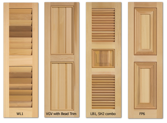 Timberlane exterior shutters step 2 type style northern transformations by kel for Unfinished wood shutters exterior