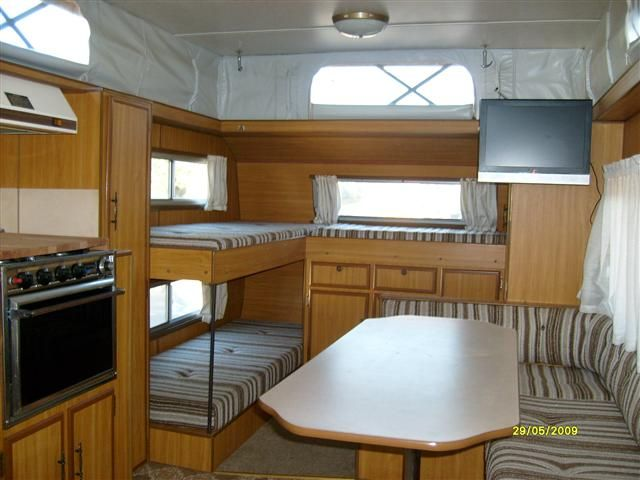 Caravan Inside Bunks Little Houses Caravan Inside