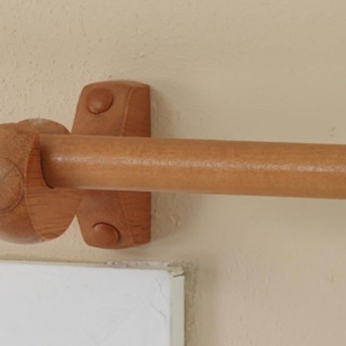 Intercrown Decorative Wood Curtain Rod 3 4 Diameter Pole At