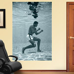 Muhammad Ali Underwater Training Mural Wall Decal by Fathead