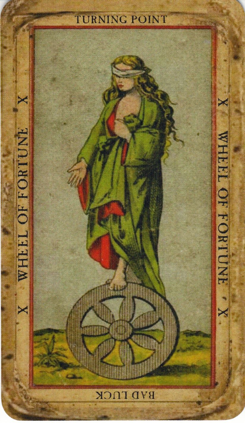 Thoth Fortune Tarot Card Tutorial: Book Of Thoth Etteilla Tarot -- Wheel Of Fortune