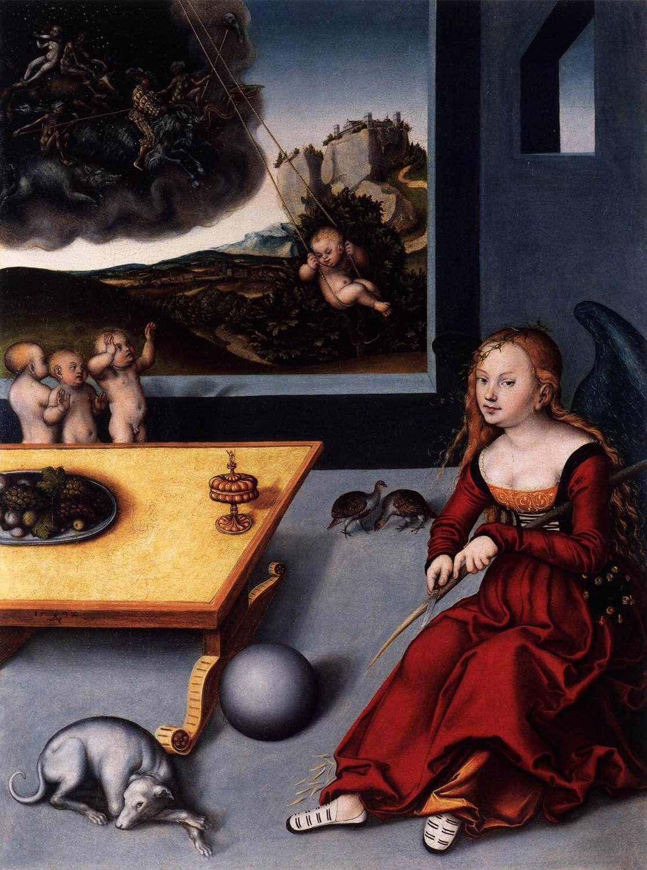 Kunstdruck Die Melancholie von Lucas Cranach der Ältere ...