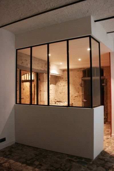 Photos sur le th me mur pierre apparente id esmaison for Fermeture cuisine ouverte