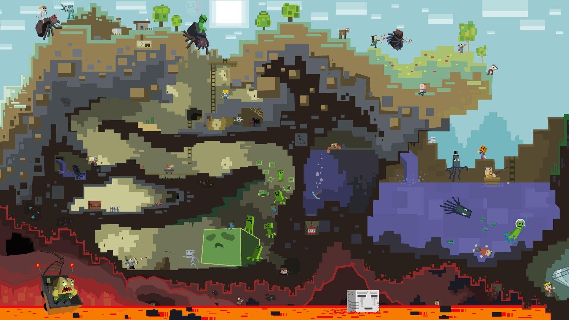 Fonds Décran Jeux Vidéo Minecraft Jeux De Construction