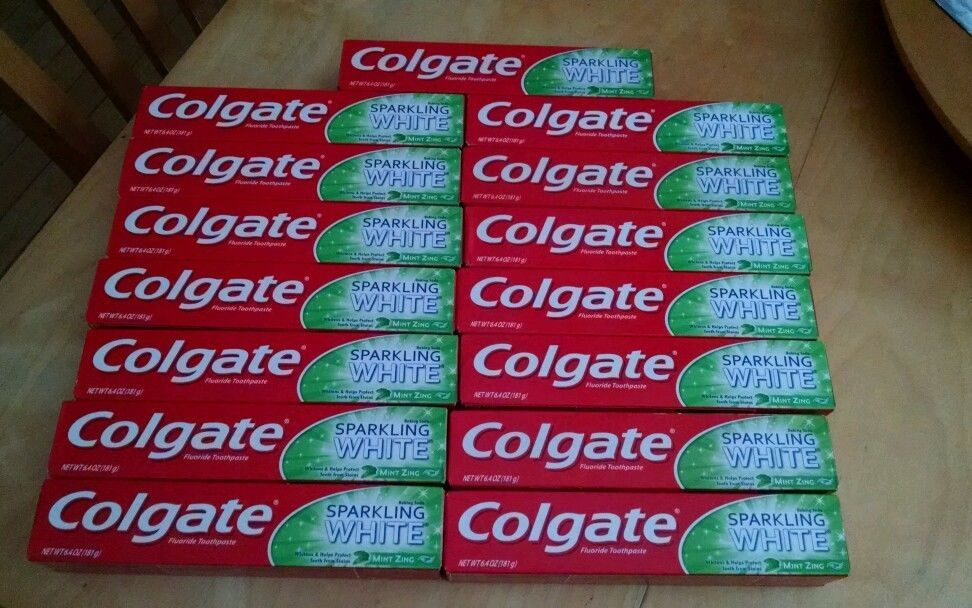lot of 15 colgate toothpaste sparkling white mint zing big sizes misc coupons in health