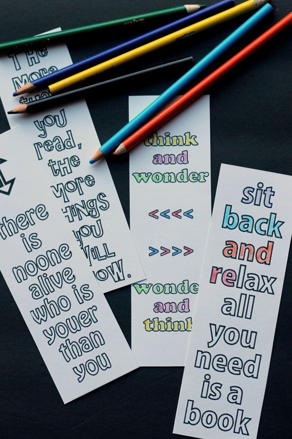 Make Your Own Bookmark With Quotes You Like Bookmarks Printable