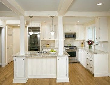Kitchen Island With Columns Load Bearing Design Ideas Pictures Remodel And Decor