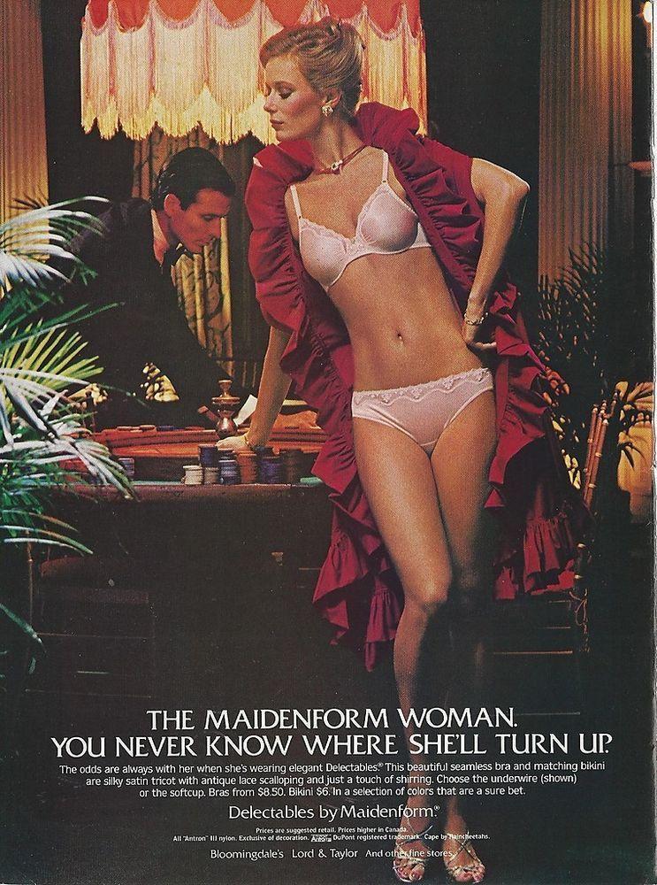 fe2fb97feb45a 1982 MAIDENFORM BRA Panty Turns Up   Gambling Roulette Vintage LINGERIE  print Ad