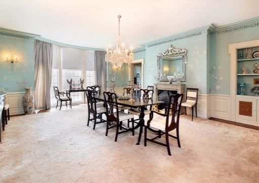 Tiffany Blue Dining Room Area | Lake Forest IL