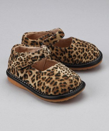 8878931f5f Take a look at this Laniecakes Leopard Squeaker Mary Jane by Squeaky Steps   Kids  Shoes on  zulily today!