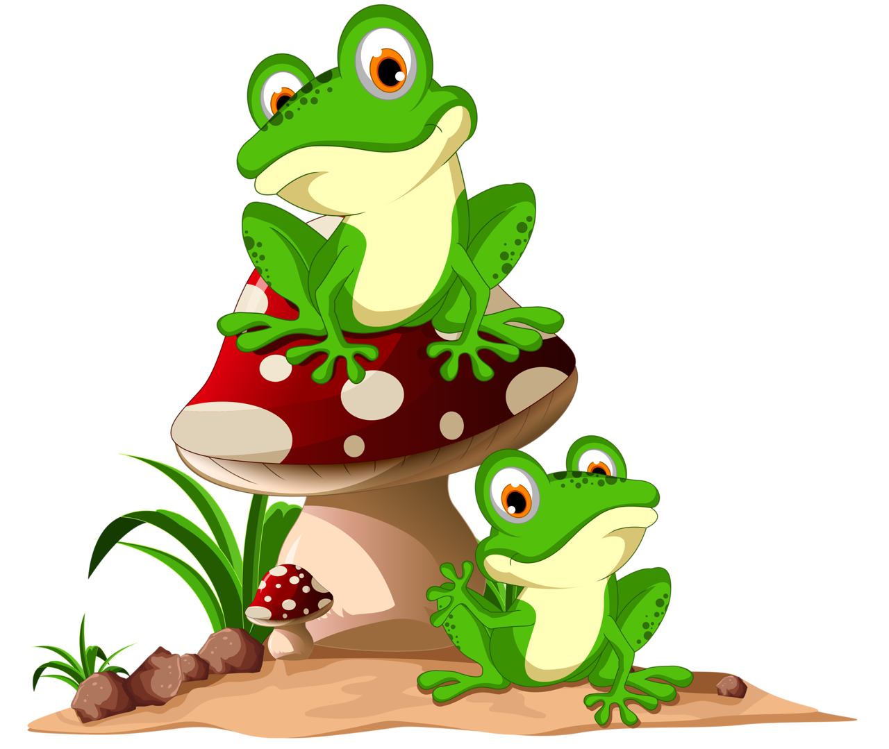 Лягушки | Frog Clip Art | Frog tattoos, Frog art, Green frog