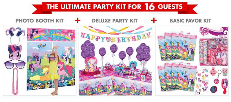 Party City My Little Pony Party Supplies Ultimate Party Kit Pony