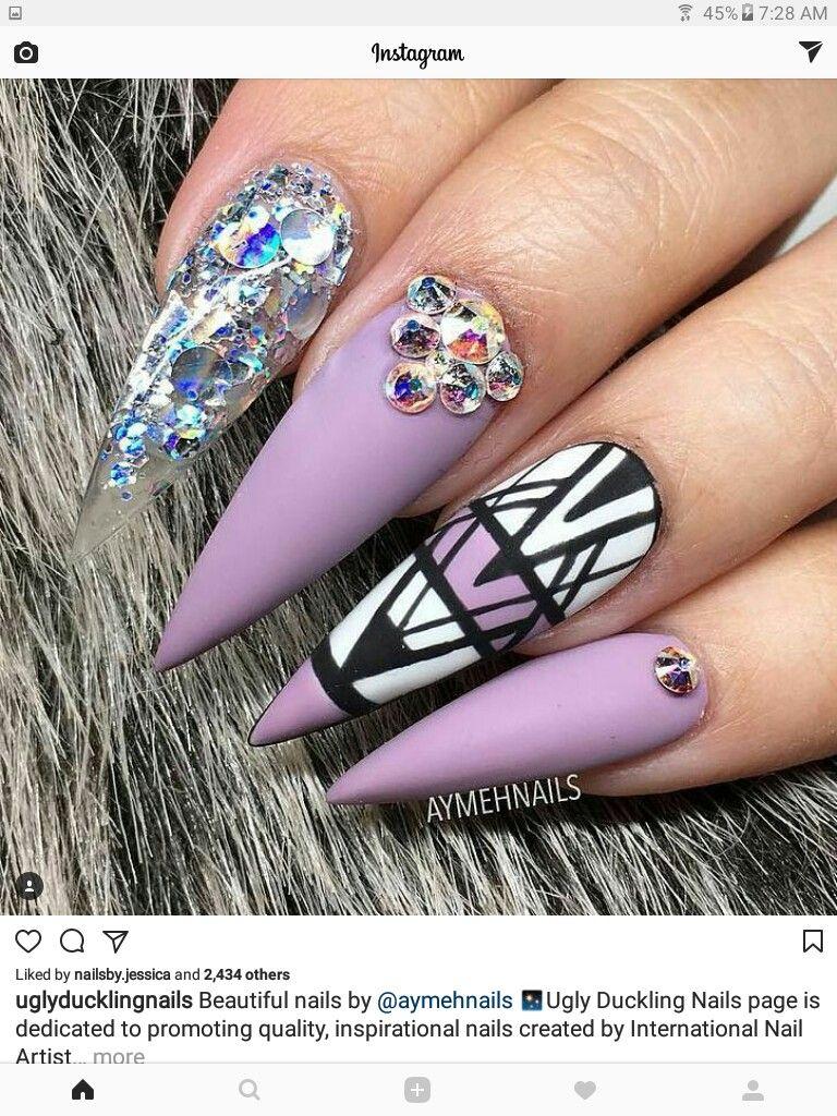 Pinterest: SaDexO   nails ♡   Pinterest   Stiletto nail art, Nail ...