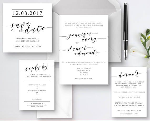 Printable calligraphy wedding invitations Wedding invitation - Formal Invitation Letters