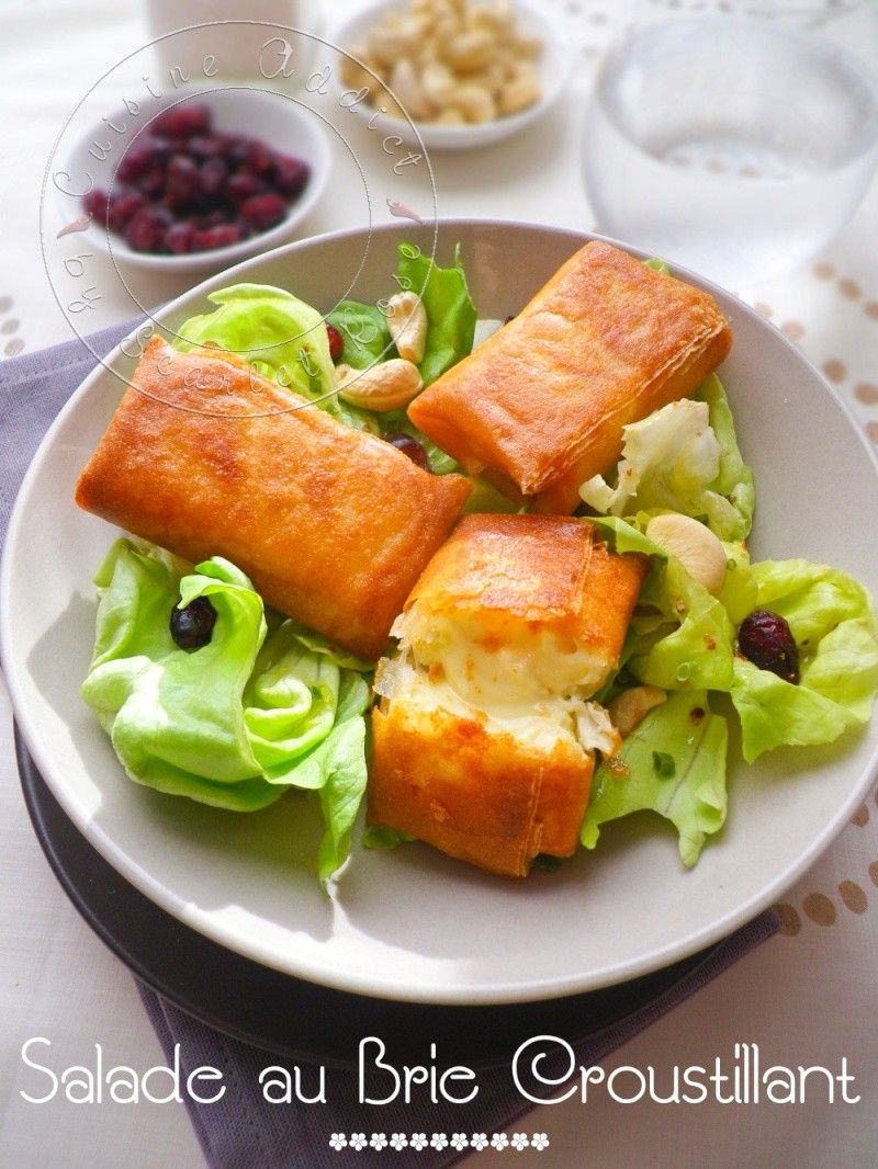 Ma salade de bri brick croustillants de brie en feuille de brick recipe bricks brie and salad - Feuille de cuisine ...