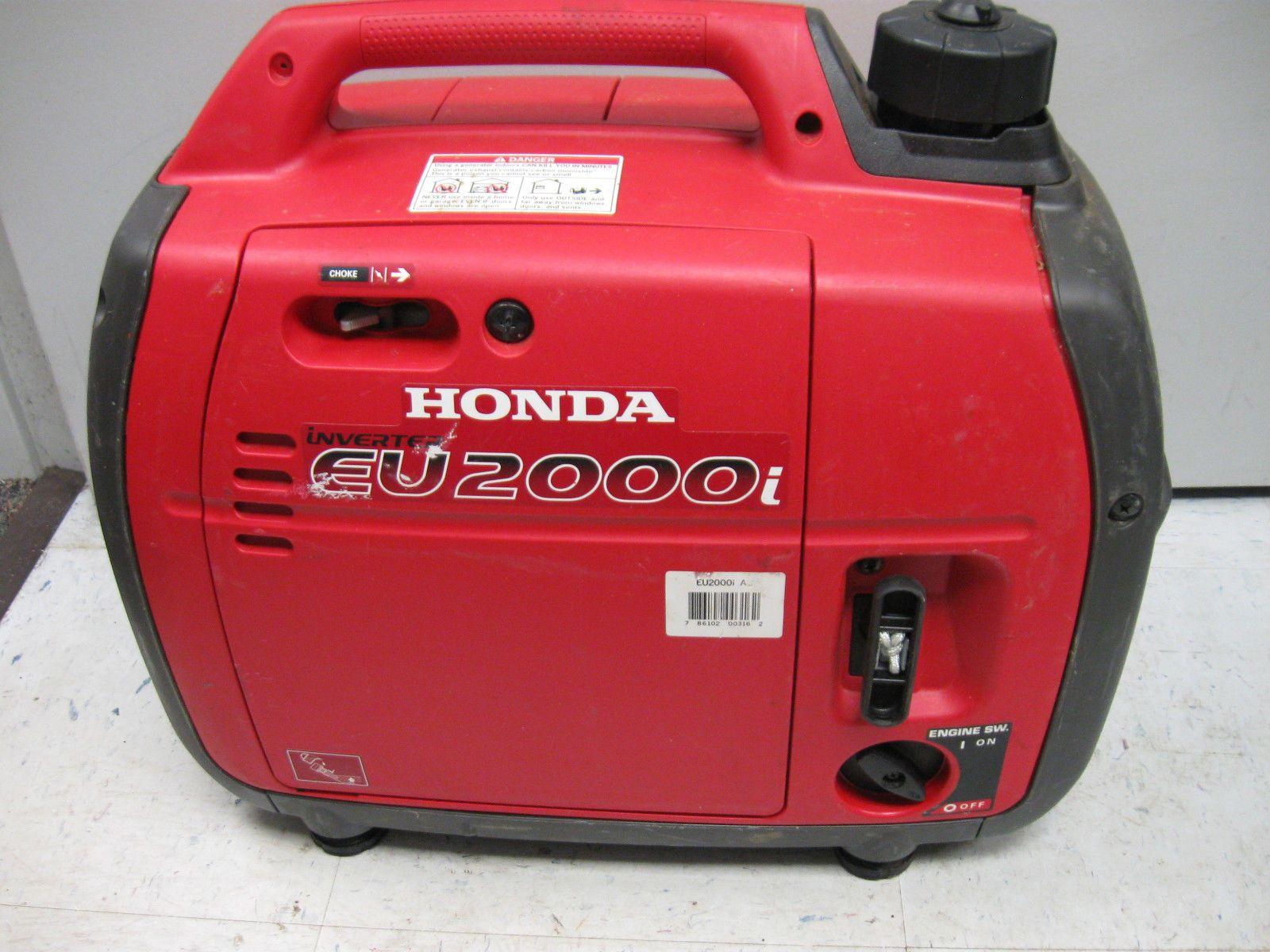 HONDA EU2000i GAS POWERED GENERATOR INVERTER ULTRA QUIET 2000 WATT
