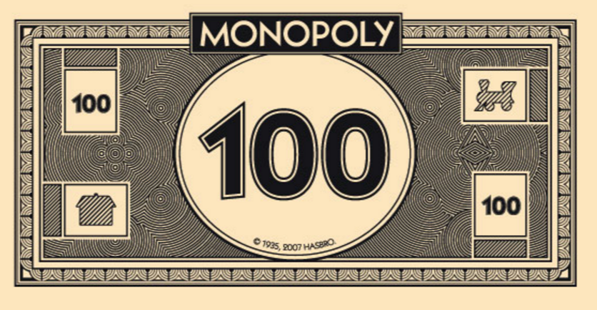 Income Is Income Monopoly Money Monopoly Printable Play Money