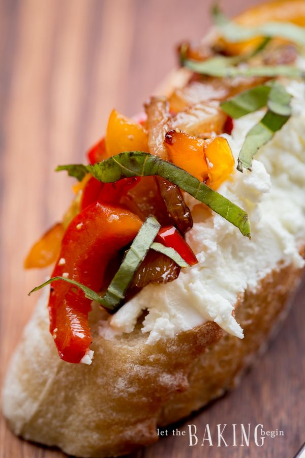 Caramelized Onion, Bell Pepper and Goat Cheese Crostini are a great and colorful snack, or a go-to picnic appetizer. Baguette slices can be switched up to crackers or any other vessel you can think of. To aid in caramelization of onions, sugar is usually added the during cooking process. In this recipe, I replaced it...