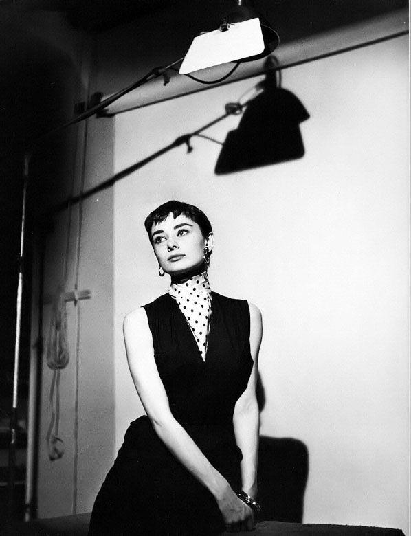 Rare Audrey Hepburn Black And White Photoshoot Vintage