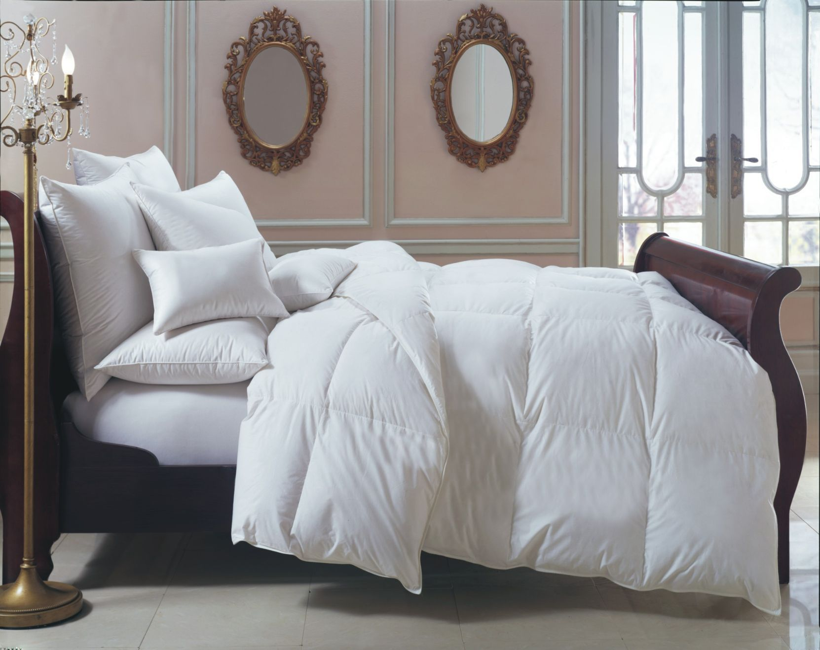 oversized king bernina heirloom fill power hungarian white goose downcomforter  all year weight. when you're looking for quality new comforters sets in edmonton