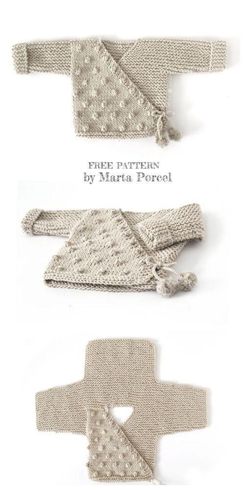 Photo of Knit Baby Kimono Jacket Legging Set Free Knitting Patterns