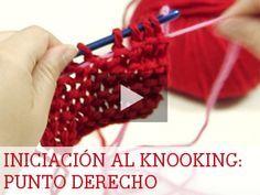 Knooking: Aprende a hacer punto revés - Punto y crochet - DIY ...