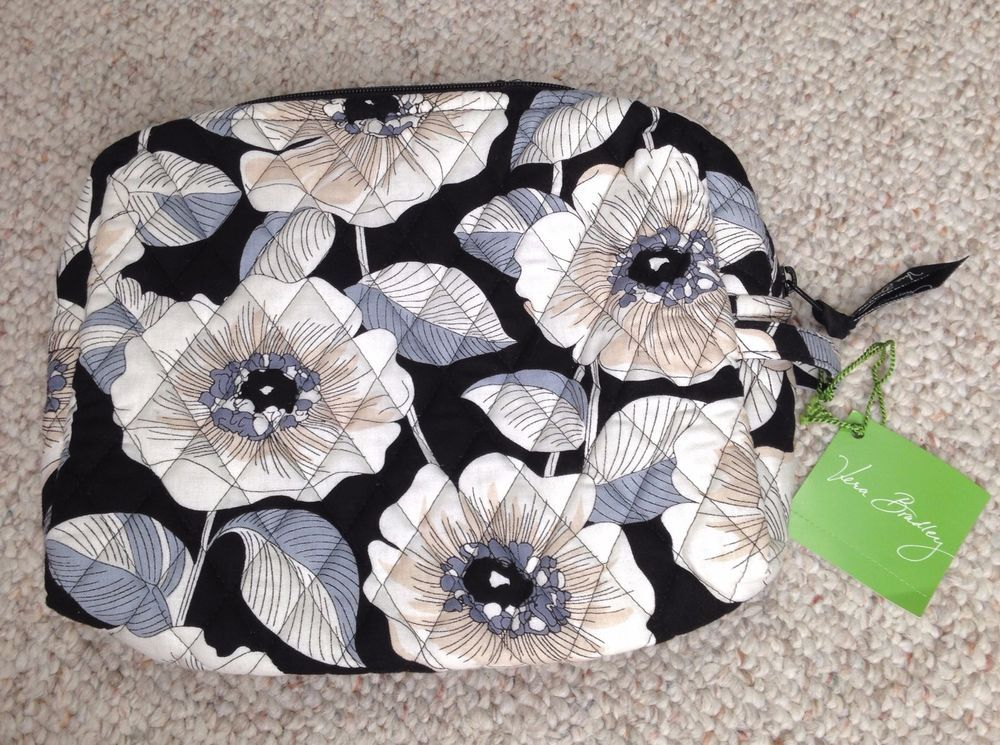 VERA BRADLEY CAMELLIA COSMETIC BAG White/Black Floral