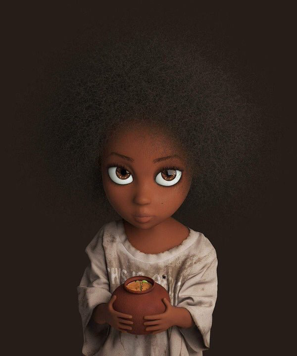3D Character Design Hair Texture On Point In 2019  Black Art Pictures, Eyes Artwork, Black -4721