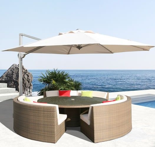 The Mercury 3.5M Round Cantilever Parasol Is A Free Standing