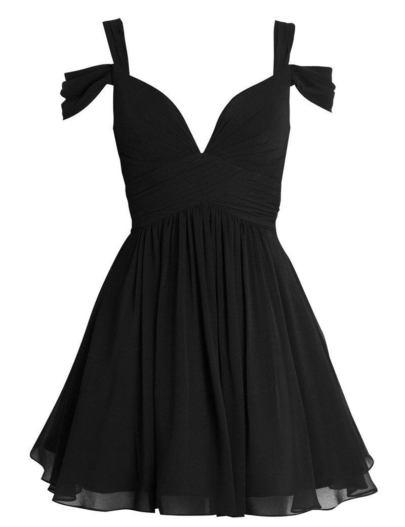 2e7c7de06fb High Quality Simple V-neck Short Chiffon Pink Homecoming Dress ...