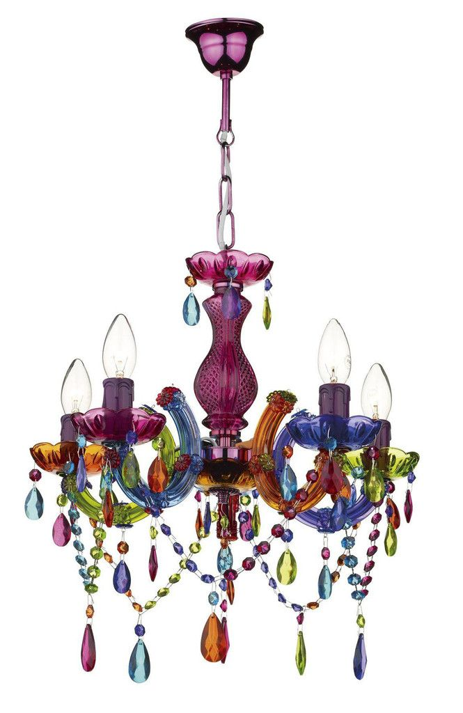 Dar Wises Sou0555 Souk 5lt Multi Coloured Chandelier